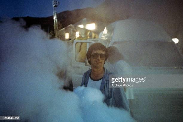 Director Steven Spielberg in between scenes from the film 'ET The ExtraTerrestrial' 1982