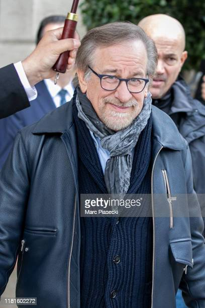 Director Steven Spielberg is seen at the Ritz hotel on October 17, 2019 in Paris, France.