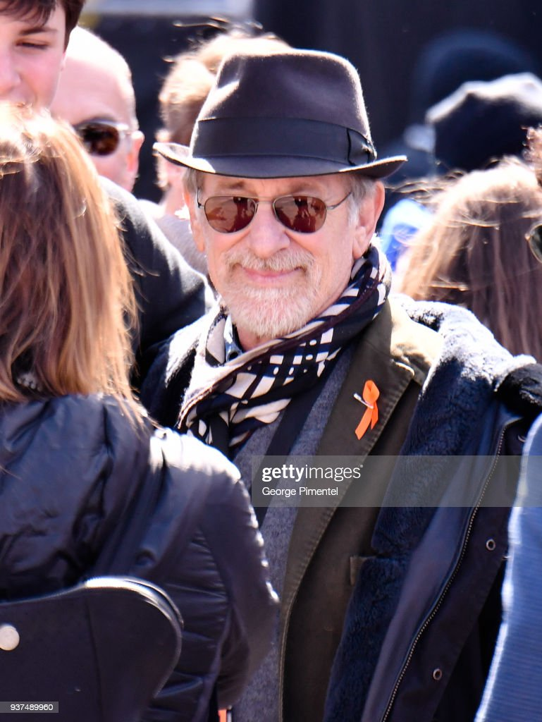 Director Steven Spielberg is seen in the crowd at March For Our Lives on March 24, 2018 in Washington, DC.