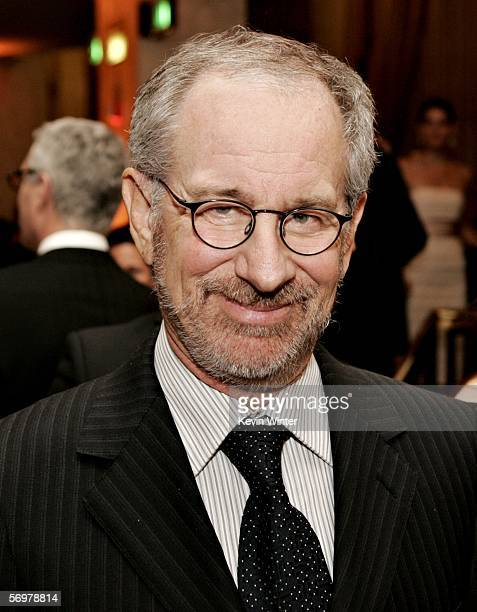Director Steven Spielberg poses during the EIF's Women's Cancer Research Fund honoring Melissa Etheridge at Saks Fifth Avenue's Unforgettable Evening...
