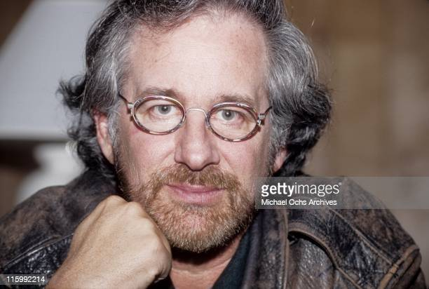 Director Steven Spielberg poses for a photo at The Shoah Foundation in March 1996 in Los Angeles California