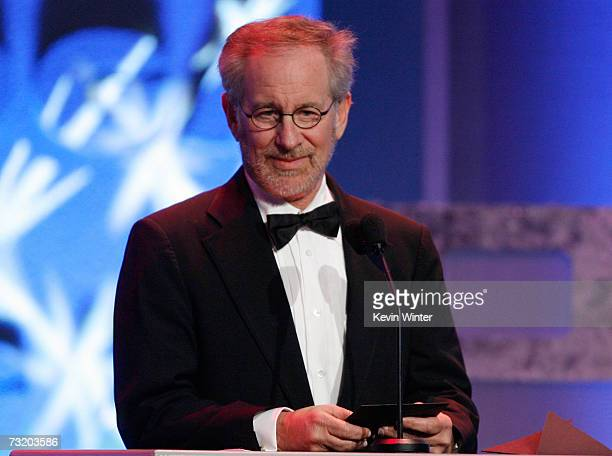 ACCESS Director Steven Spielberg presents the Outstanding Directorial Achievement in a Feature Film for The Departed to director Martin Scorsese...
