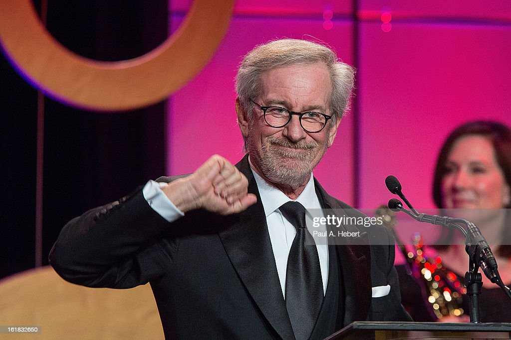 Director Steven Spielberg receives the Golden Eddie Award during the 63rd Annual ACE Eddie Awards held at The Beverly Hilton Hotel on February 16, 2013 in Beverly Hills, California.