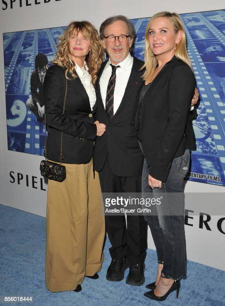 Director Steven Spielberg wife Kate Capshaw and daughter Jessica Capshaw arrive at the HBO Premiere of 'Spielberg' at Paramount Studios on September...