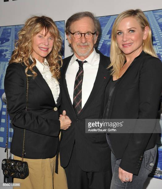 Director Steven Spielberg, wife Kate Capshaw and daughter Jessica Capshaw arrive at the HBO Premiere of 'Spielberg' at Paramount Studios on September...