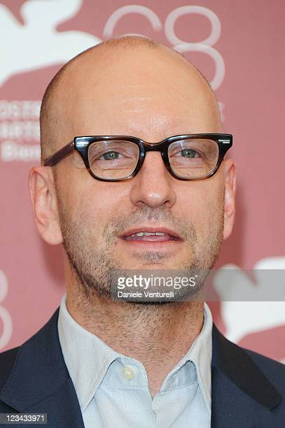 Director StevenSoderbergh attends the Contagion Photocall during the 68th Venice International Film Festival at Palazzo del Casino on September 3...