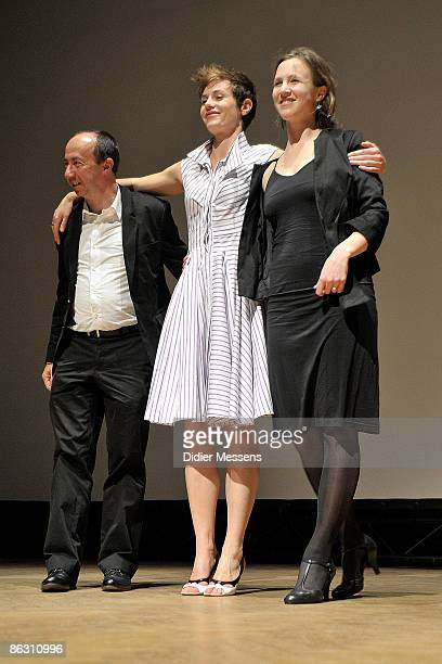Director Stijn Coninx Cecile de France and Marie Kremer attend 'Sour Sourire' at Bozar on April 30 2009 in Brussels Belgium