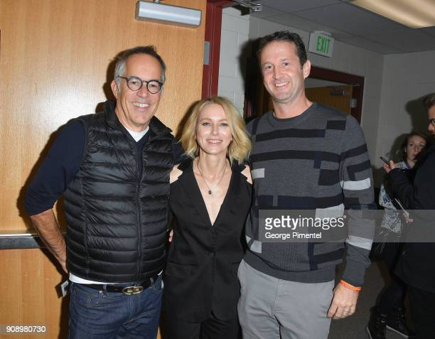 Director Sundance Film Festival John Cooper actor Naomi Watts and Director of Programming Sundance Film Festival Trevor Groth attends the Ophelia...