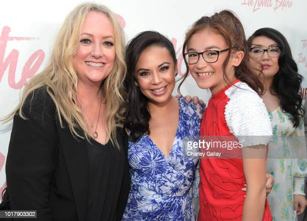 Director Susan Johnson Janel Parrish and Anna Cathcart attend Netflix's 'To All the Boys I've Loved Before' Los Angeles Special Screening at Arclight...