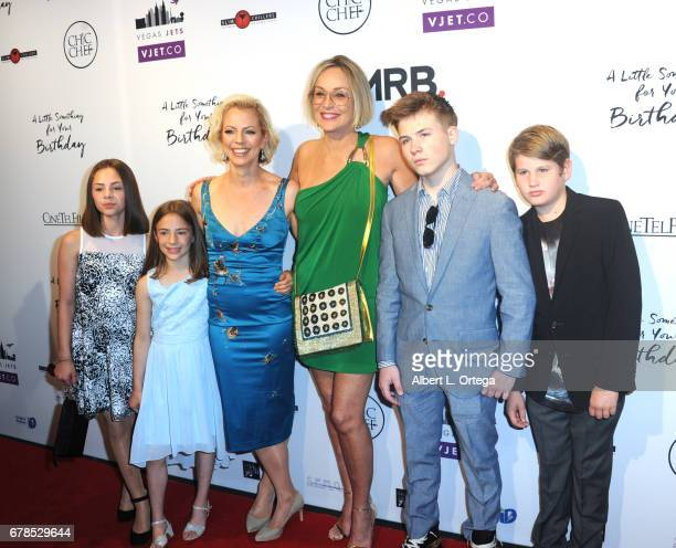 Director Susan Walter with daughters Roan Joseph Bronstein Sharon Stone and Laird Vonne Stone arrives for the Premiere Of Penny Black Promotions' A...