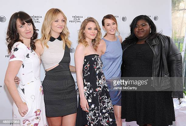 Director Susanna Fogel Abby Elliot Gillian Jacobs Leighton Meester and Gabby Sidibe attend the 'Life Partners' screening during the 2014 Tribeca Film...