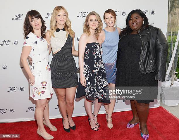 Director Susanna Fogel and actresses Abby Elliot Gillian Jacobs Leighton Meester and Gabby Sidibe attend the 'Life Partners' premiere during the 2014...