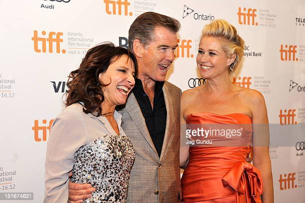 Director Susanne Bier actors Pierce Brosnan and Trine Dyrholm attend the Love Is All You Need premiere during the 2012 Toronto International Film...