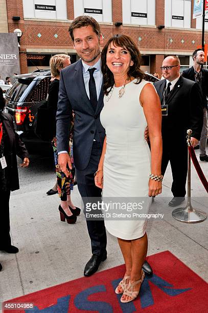 Director Susanne Bier and actor Nikolaj CosterWaldau attend the premiere of 'A Second Chance' at the 2014 Toronto International Film Festival at...