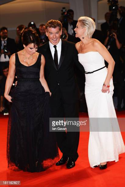 Director Susanne Bier and actors Pierce Brosnan and Trine Dyrholm attend 'Love Is All You Need' Premiere during The 69th Venice Film Festival at the...