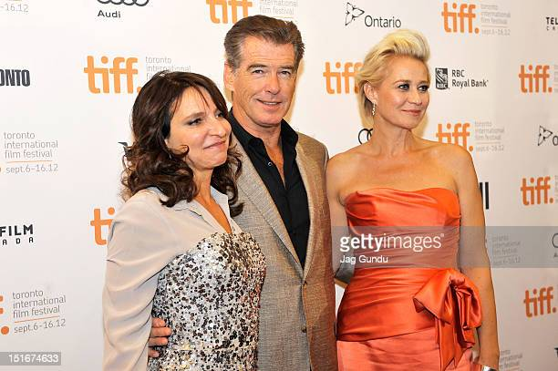 Director Susanne Bier and actors Pierce Brosnan and Trine Dyrholm attend the Love Is All You Need premiere during the 2012 Toronto International Film...