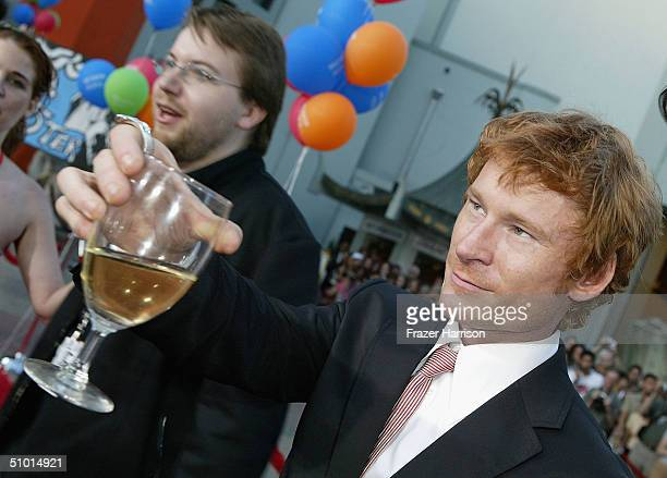 """Director Sven Pape and actor Zack Ward arrive at the World Premiere of """"LA Twister"""" on June 30, 2004 at the Grauman's Chinese Theatre, in Hollywood,..."""