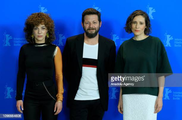 "Director Syllas Tzoumerkas , actress Youla Boudali and actress Angeliki Papoulia attend the press conference of ""The Miracle of the Sargasso Sea..."