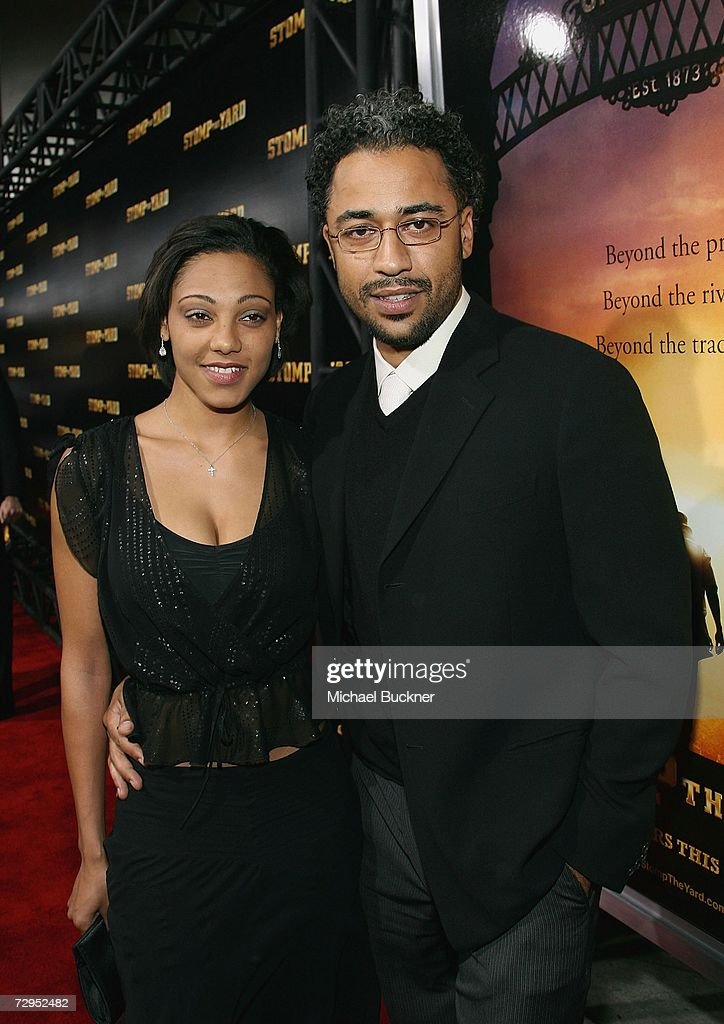 Director Sylvain White (right) and wife Meena Payne arrive at the premiere of Screen Gem's 'Stomp The Yard' at the Cinerama Dome on January 8, 2007 in Los Angeles, California.