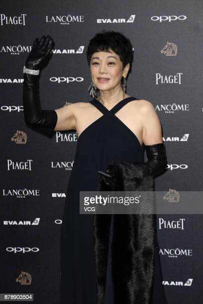 Director Sylvia Chang arrives at the red carpet of the 54th Golden Horse Awards Ceremony on November 25 2017 in Taipei Taiwan of China