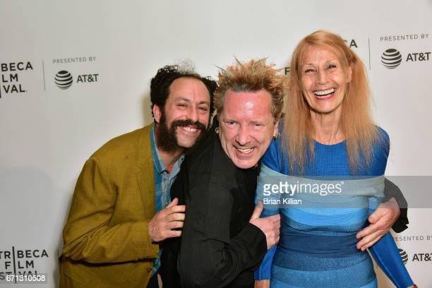 Director Tabbert Fiiller John Lydon aka Johnny Rotten and Nora Forster attend the 2017 Tribeca Film Festival The Public Image Is Rotten screening at...
