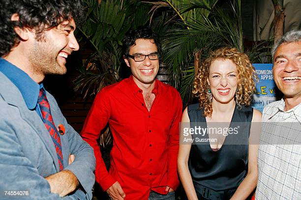 Director Taika Waititi actor Jemaine Clement actress Loren Horsley and president of Miramax Daniel Battsek laug at the after party for the premiere...