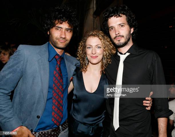 Director Taika Waititi actress Loren Horsley and actor Bret McKenzie attend the after party for the premiere of Eagle vs Shark at The Delancy June 11...