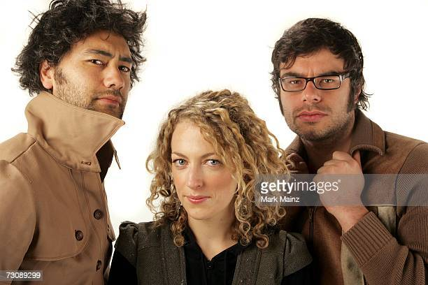 Director Taika Waititi actress Loren Horsley and actor Jemaine Clement from the film Eagle vs Shark poses for a portrait during the 2007 Sundance...
