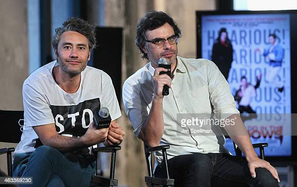 Director Taika Waititi ands actor Jemaine Clement attend the AOL BUILD Speaker Series at AOL Studios In New York on February 13 2015 in New York City