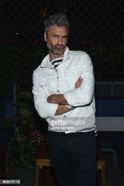 Director Taika Waititi attends The Cinema Society's Screening Of Marvel Studios' Thor Ragnarok at Magic Hour Rooftop Bar Lounge on October 30 2017 in...