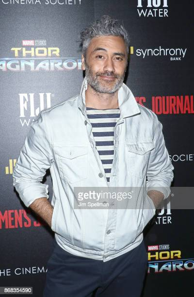 Director Taika Waititi attends the screening of Marvel Studios' 'Thor Ragnarok' hosted by The Cinema Society with FIJI Water Men's Journal and...