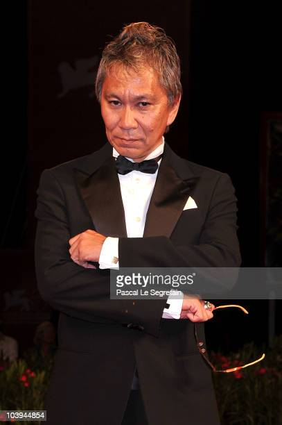 Director Takashi Miike attends the '13 Assassins' Premiere during the 67th Venice Film Festival at the Sala Grande Palazzo Del Cinema on September 9...