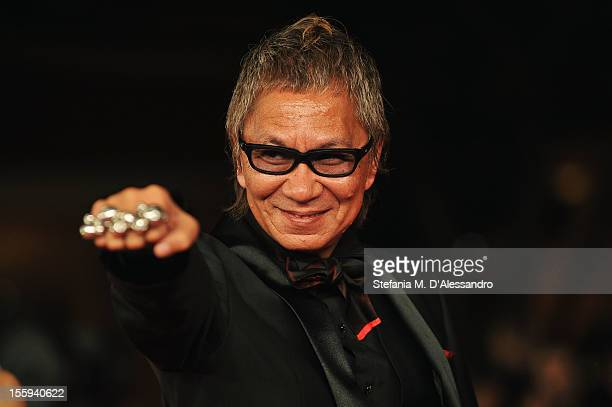 Director Takashi Miike attends the Aku No Kyoten Premiere during the 7th Rome Film Festival at the Auditorium Parco Della Musica on November 9 2012...