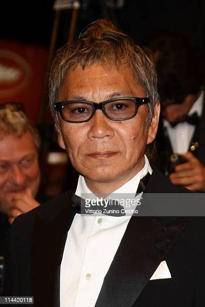 Director Takashi Miike attends the HaraKiriDeath Of A Samurai premiere during the 64th Annual Cannes Film Festival at Palais des Festivals on May 19...