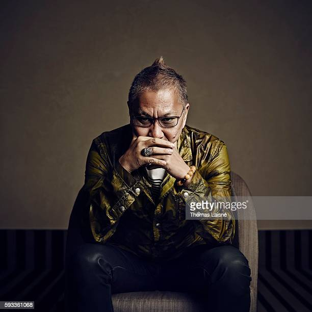 Director Takashi Miike is photographed for Self Assignment on May 17, 2013 in Cannes, France.