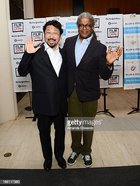 Director Takashi Murakami and Film Independent at LACMA Film Curator Elvis Mitchell attend a Film Independent at LACMA special screening of...