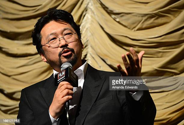 Director Takashi Murakami attends a Film Independent at LACMA special screening of 'Jellyfish Eyes' at Bing Theatre At LACMA on April 8 2013 in Los...