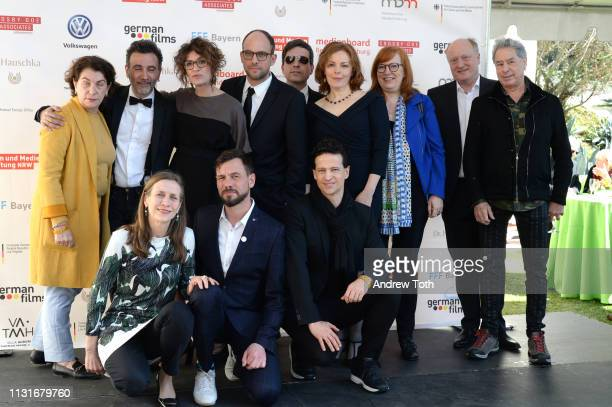 Director Talal Derki and crew from 'Fathers and Sons' attend the German Oscar reception at The Villa Aurora on February 23 2019 in Pacific Palisades...