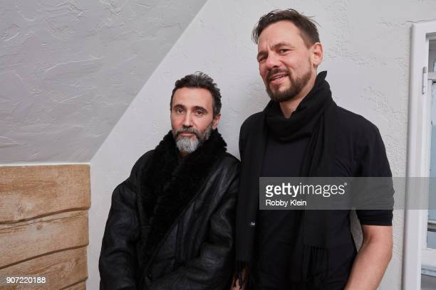 Director Talal Derki and Producer Tobias Siebert from the film 'Of Fathers And Sons' pose for a portrait in the YouTube x Getty Images Portrait...