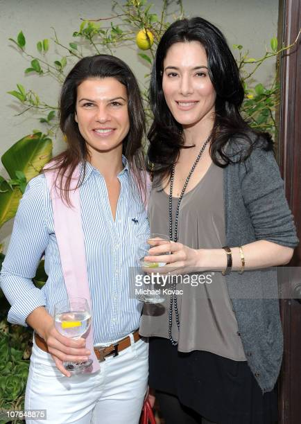 Director Tania Meneguzzi and actress Jaime Murray attend the 2010 Britweek Christmas Tea Party on December 11 2010 in Los Angeles California