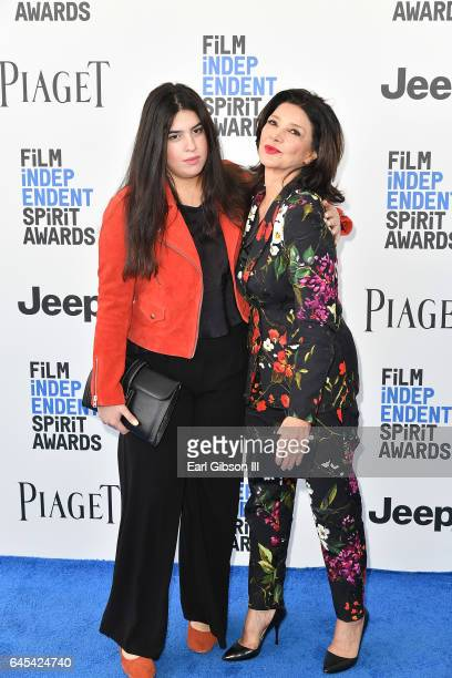 Director Tara Touzie and actor Shohreh Aghdashloo attends the 2017 Film Independent Spirit Awards on February 25 2017 in Santa Monica California