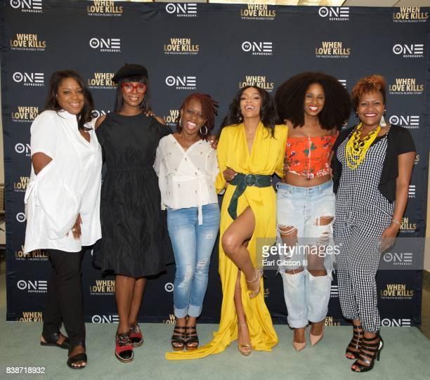 Director Tasha Smith Cas SigersBeedles Screenplay writer Niatia 'Lil Mama' Kirkland Tiffany Black and Tia Smith attend the SAGAFTRA Foundation...