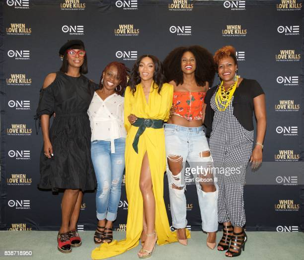 Director Tasha Smith Cas SigersBeedles Screenplay writer Niatia 'Lil Mama' Kirkland Tiffany Black and Tia Smith attend the SAGAFTRA Foundation...