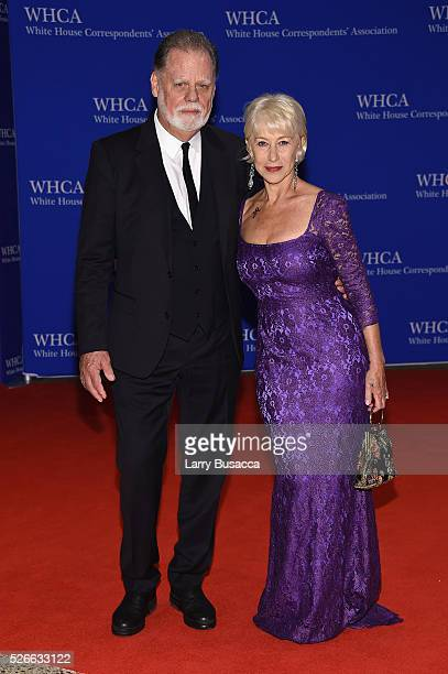 Director Taylor Hackford and actress Dame Helen Mirren attend the 102nd White House Correspondents' Association Dinner on April 30 2016 in Washington...