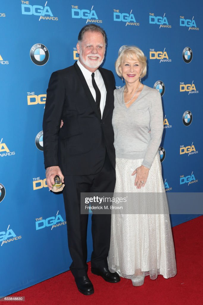 Director Taylor Hackford (L) and actress Dame Helen Mirren attend the 69th Annual Directors Guild of America Awards at The Beverly Hilton Hotel on February 4, 2017 in Beverly Hills, California.