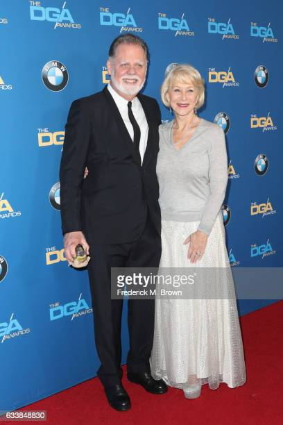 Director Taylor Hackford and actress Dame Helen Mirren attend the 69th Annual Directors Guild of America Awards at The Beverly Hilton Hotel on...