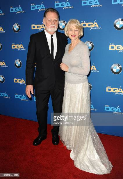 Director Taylor Hackford and actress Helen Mirren attend the 69th annual Directors Guild of America Awards at The Beverly Hilton Hotel on February 4...