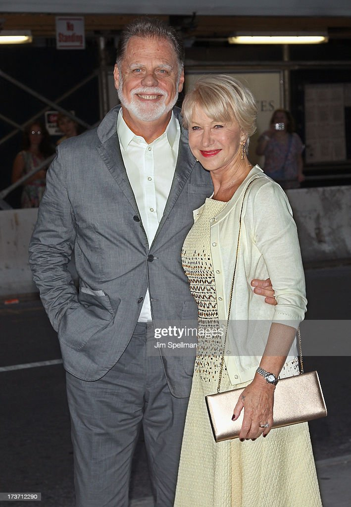 Director Taylor Hackford and actress Helen Mirren attend The Cinema Society & Bally screening of Summit Entertainment's 'Red 2' at the Museum of Modern Art on July 16, 2013 in New York City.