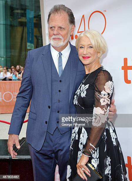 Director Taylor Hackford and actress Helen Mirren attend the Eye In The Sky premiere during the 2015 Toronto International Film Festival at Roy...