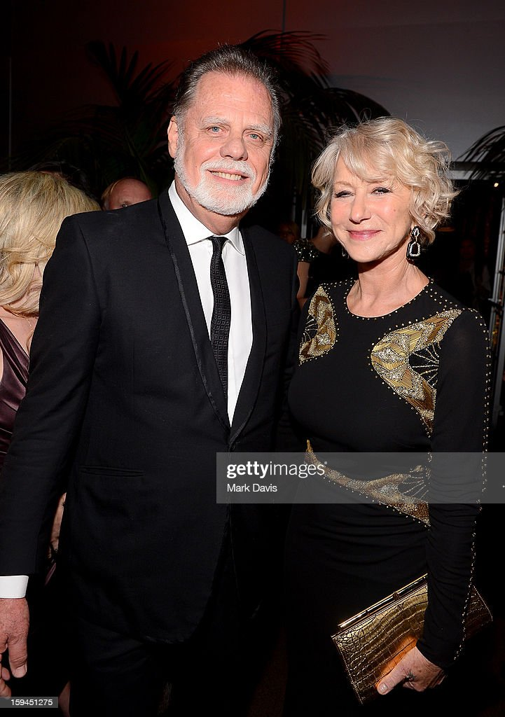 Director Taylor Hackford and actress Helen Mirren attends the FOX After Party for the 70th Annual Golden Globe Awards held at The FOX Pavillion at The Beverly Hilton Hotel on January 13, 2013 in Beverly Hills, California.